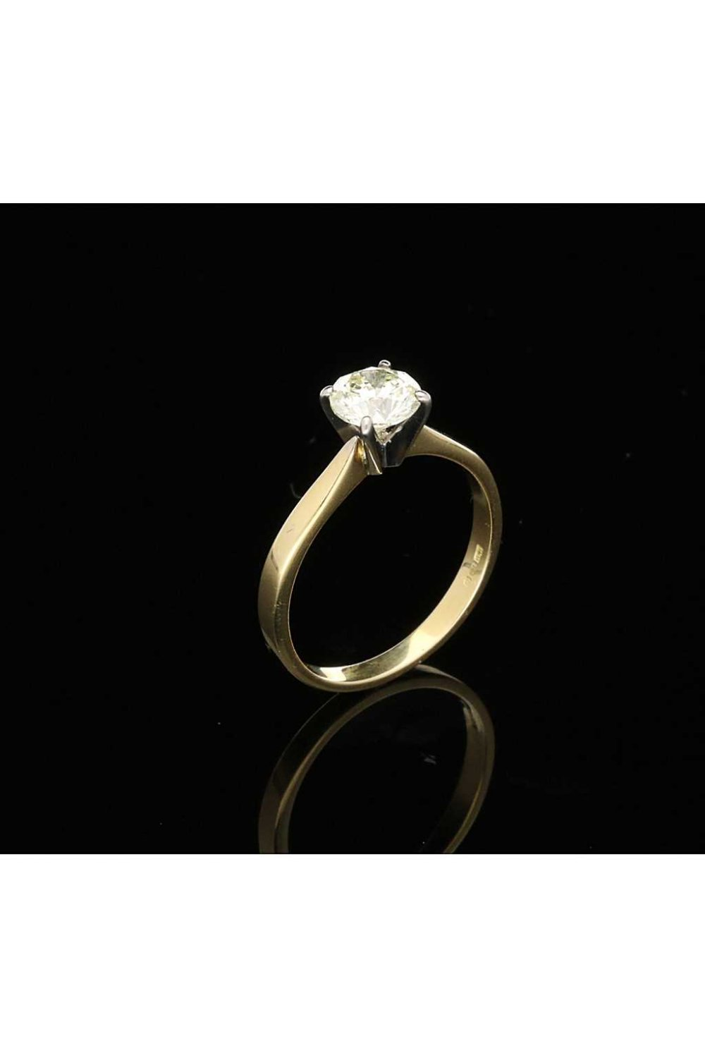 0 94ct Diamond Engagement Ring In 18ct Yellow Gold Second Hand