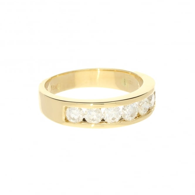Miltons Diamonds 1.00ct Diamond 18ct Yellow Gold Half Eternity Ring