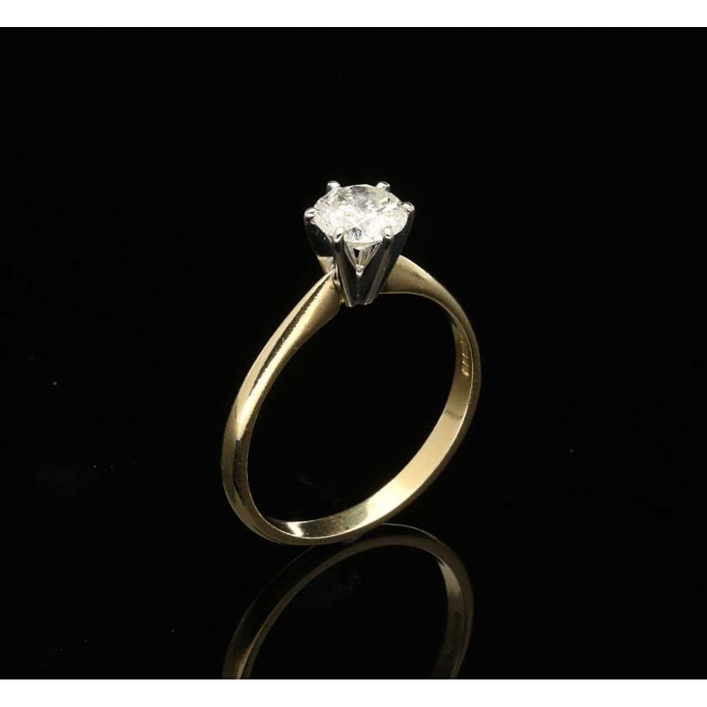 1 01ct engagement ring 18ct yellow gold pre owned