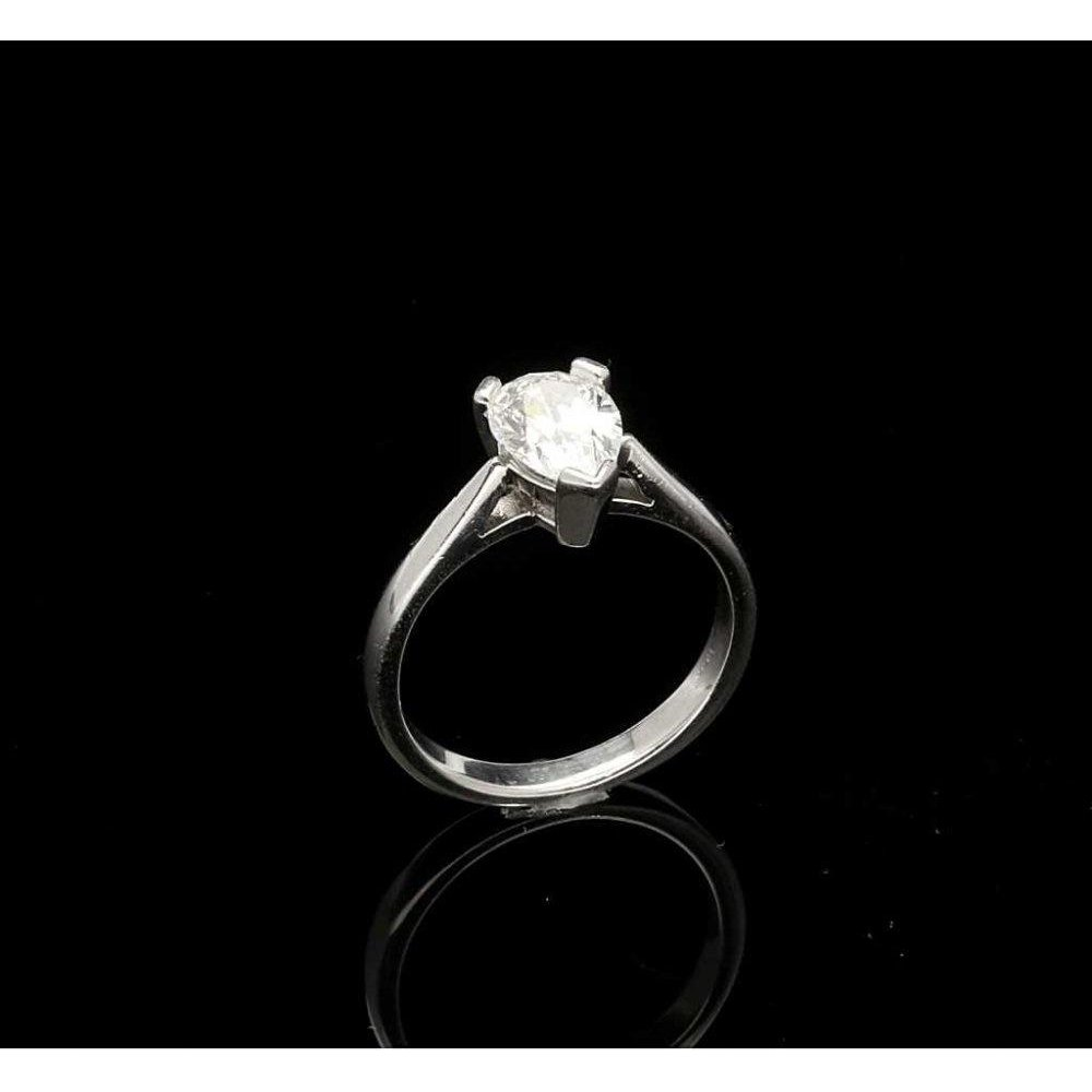 Second Hand 1ct Pear Cut Diamond Platinum Engagement Ring