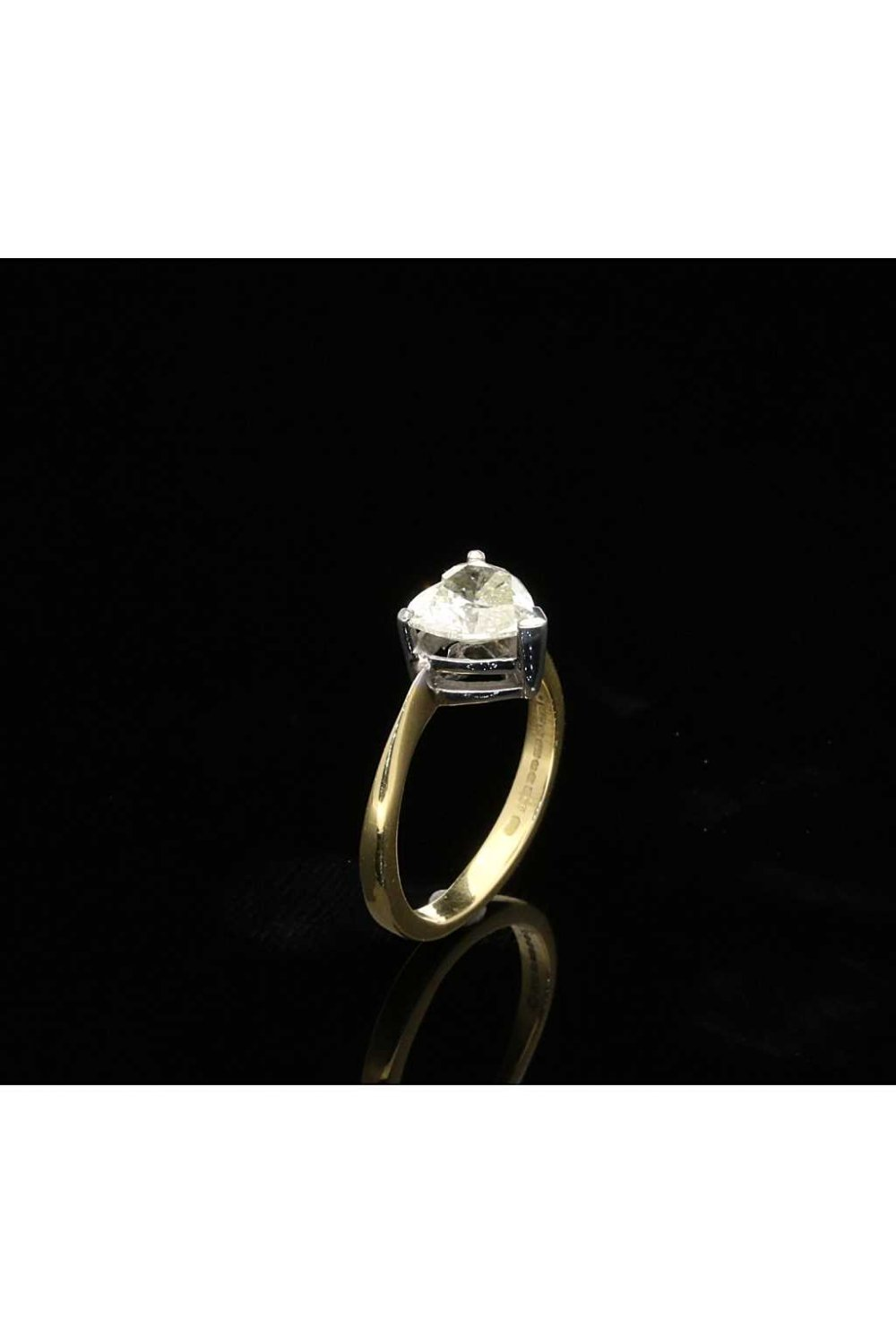 Milton's Secondhand 109ct Heart Cut Diamond Engagement Ring In 18ct Yellow  Gold