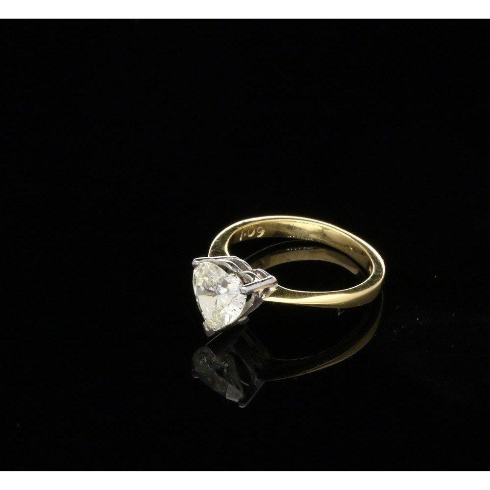 P1 P2 Diamond: Pre-Owned Diamond Cut Engagement Ring 1.09ct