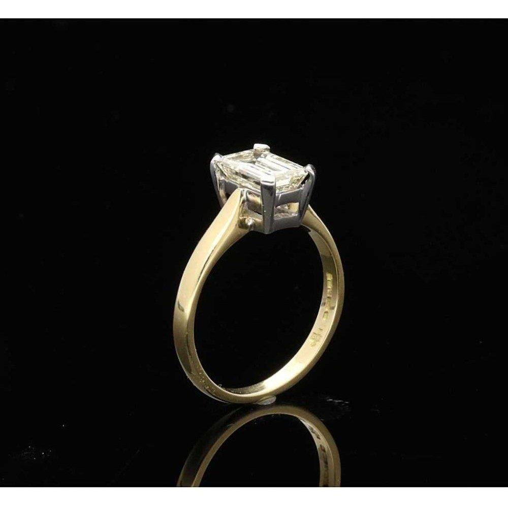Second Hand Emerald Cut Diamond Engagement Ring 1 52ct Miltons