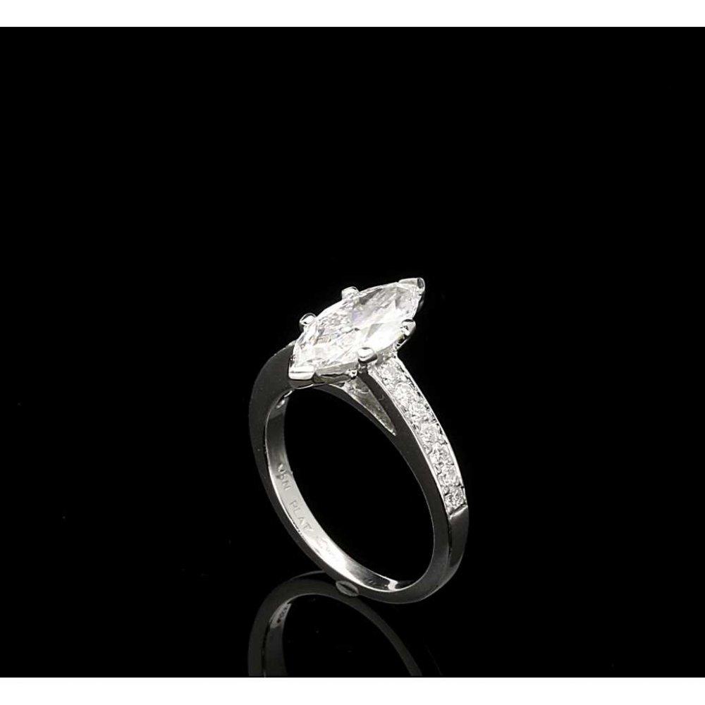 Second Hand 1 56ct Marquise Cut Diamond Engagement Ring Platinum