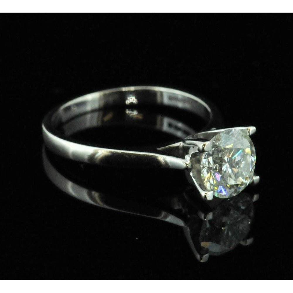 Large 1 71ct Diamond Engagement Ring In 18ct White Gold