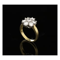 1.76ct Diamond 18ct Gold Cluster Ring