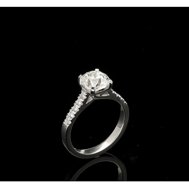 Miltons Diamonds 1.92ct Modified Old European Cut Diamond Engagement Ring