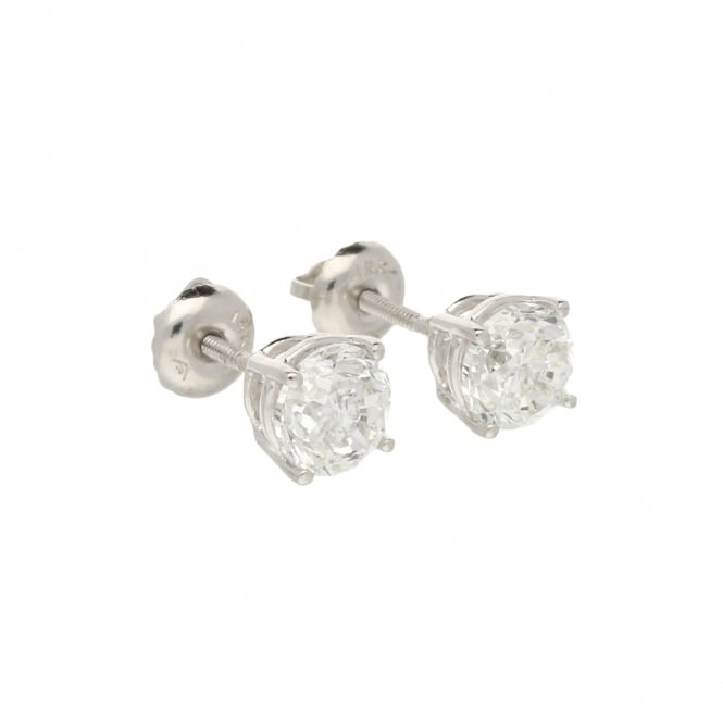 Miltons Diamonds 14ct White Gold 1.75ct Diamond Earrings