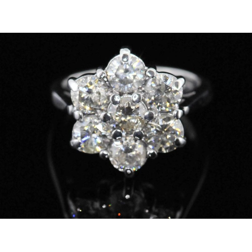 property l room size cluster ring white ctw rings engagement diamond stone vintage gold