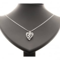 18ct Diamond Leaf Pendant and Chain