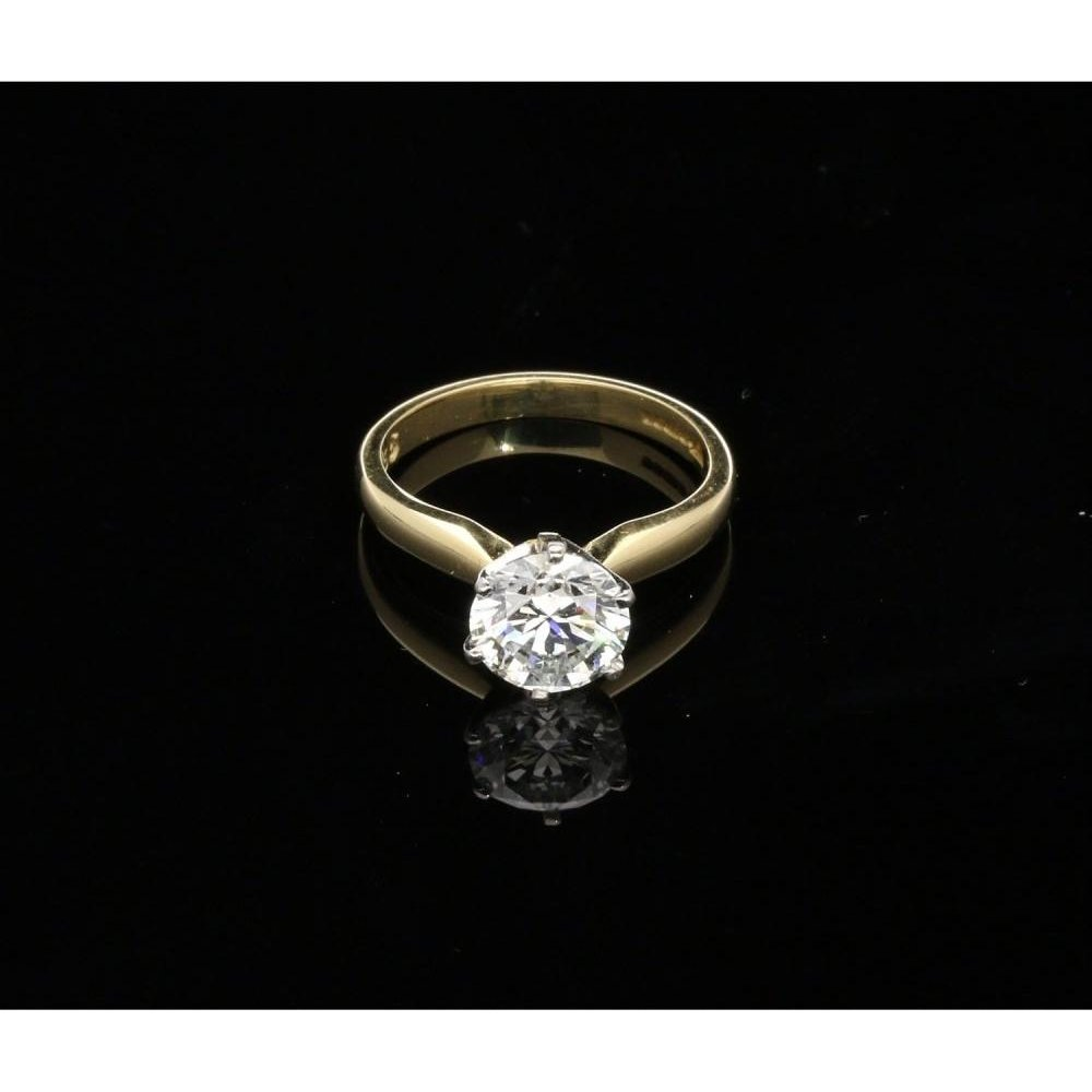 Second Hand 18ct Yellow Gold 1 65ct Diamond Solitaire Ring