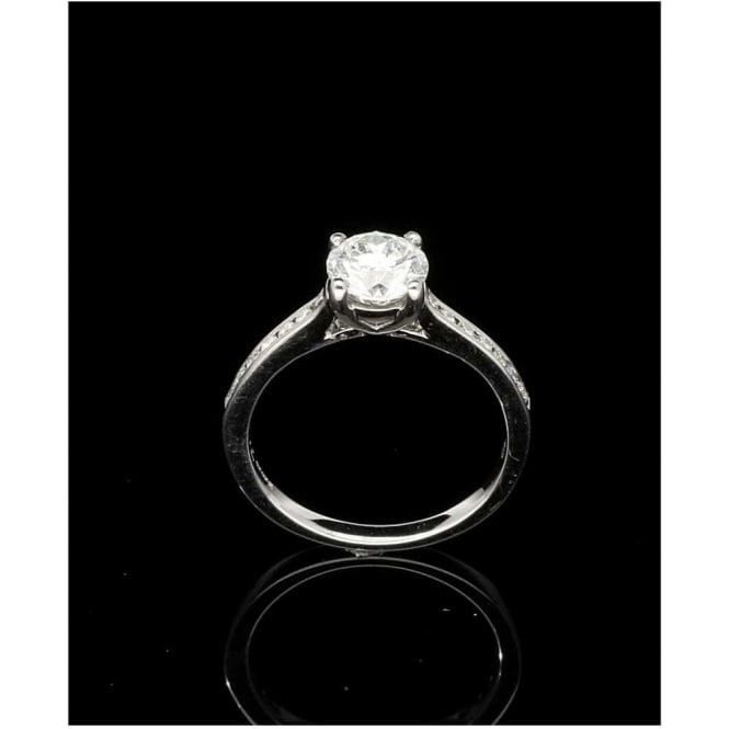 Miltons Diamonds 18ct Engagement Ring with Diamond Shoulders