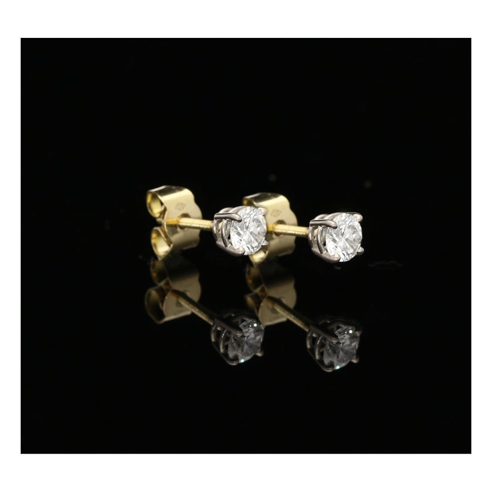 18ct Gold 0 82ct Diamond Stud Earrings