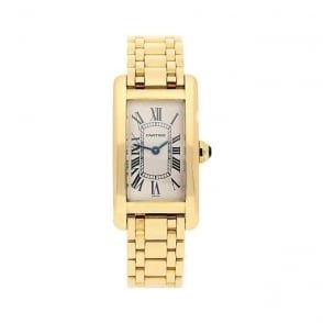 18ct Lady's Cartier Tank Americaine