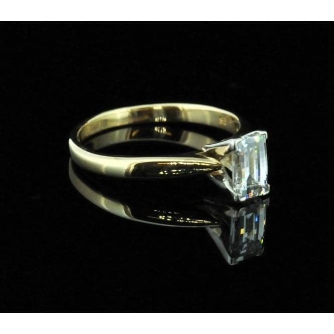 18ct Millenium Cut Diamond Ring Second Hand Jewellery