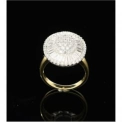 18ct Oval Cluster Ring