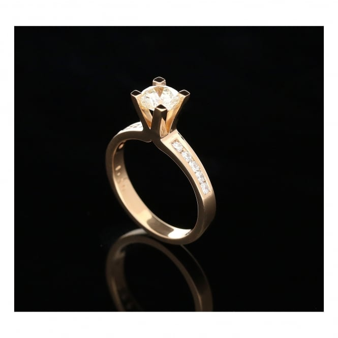 Miltons Diamonds 18ct Rose Gold 1.30ct Diamond Engagement Ring