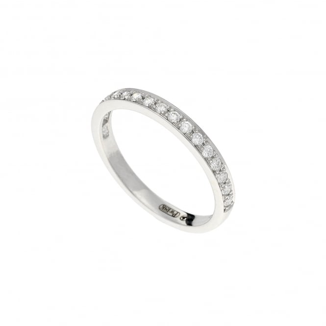 Miltons Diamonds 18ct White Canadian Gold Half Eternity Ring - 0.25ct