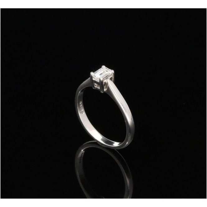 Miltons Diamonds 18ct White Gold 0.29ct Emerald Cut Diamond Engagement Ring