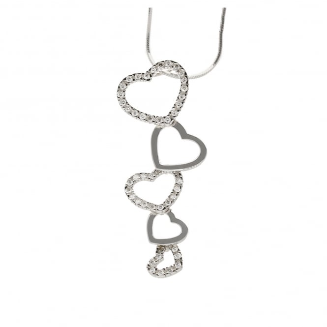 Miltons Diamonds 18ct White Gold 0.44ct Diamond Heart Pendant & Chain