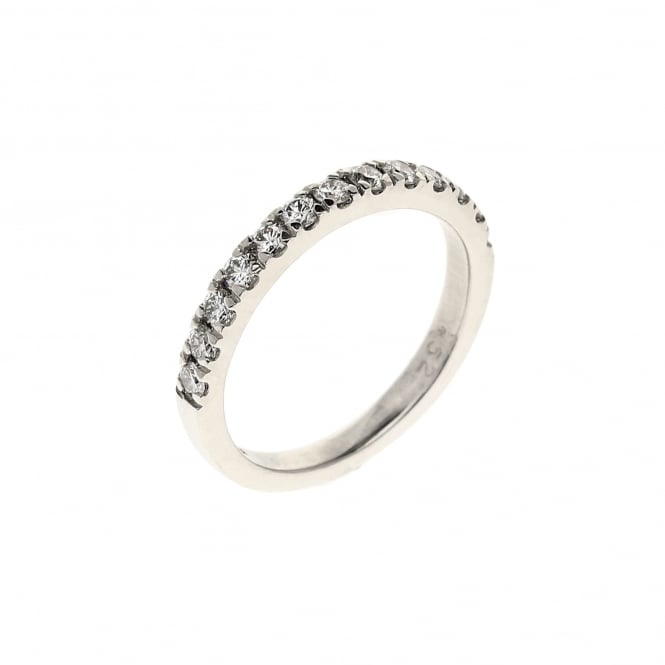 Miltons Diamonds 18ct White Gold 0.52ct Diamond Half Eternity Ring