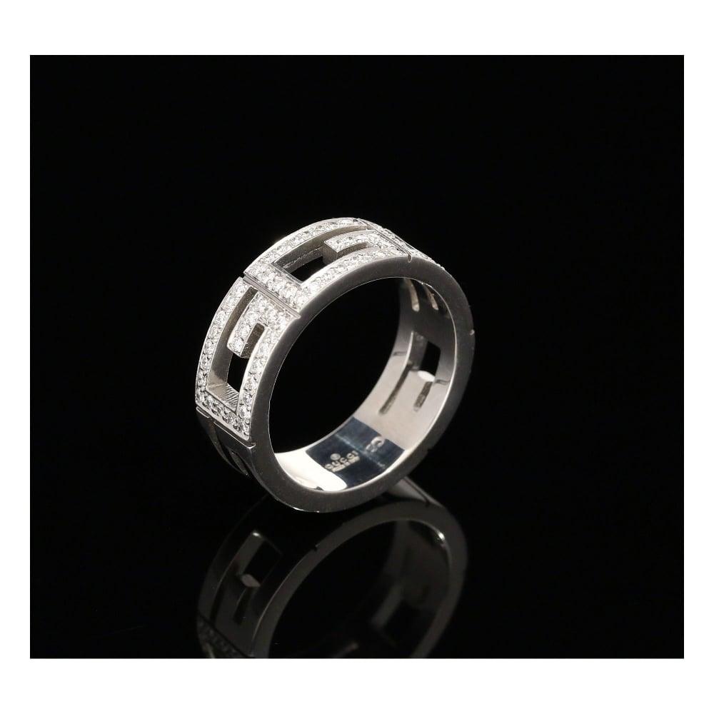 3e8fe9a9b Milton's Secondhand 18ct White Gold 0.72ct Diamond Gucci Ring