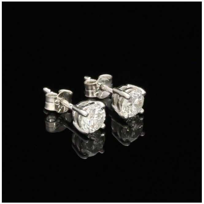 Miltons Diamonds 18ct White Gold 1.00ct Diamond Earrings