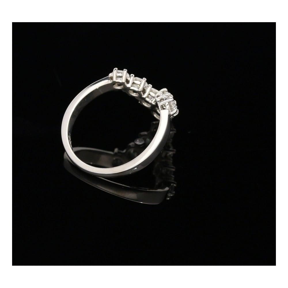 Secondhand 18ct White Gold 100ct Diamond Wishbone Ring Miltons