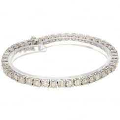 18ct White Gold 2.18ct Diamond Bracelet