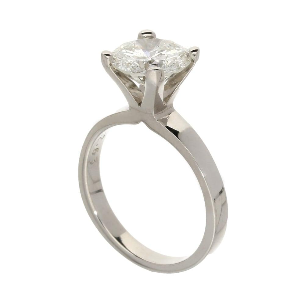 18ct White Gold 268ct Diamond Engagement Ring