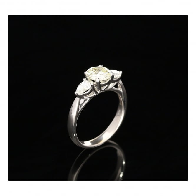 Miltons Diamonds 18ct White Gold 3 Stone Diamond Ring - 1.54ct - VVS2/VS1 - M/N