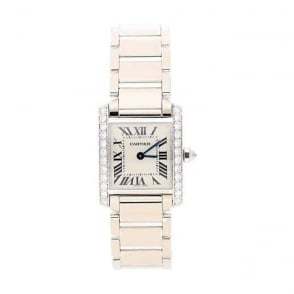 18ct White Gold and Diamond Cartier Tank Watch