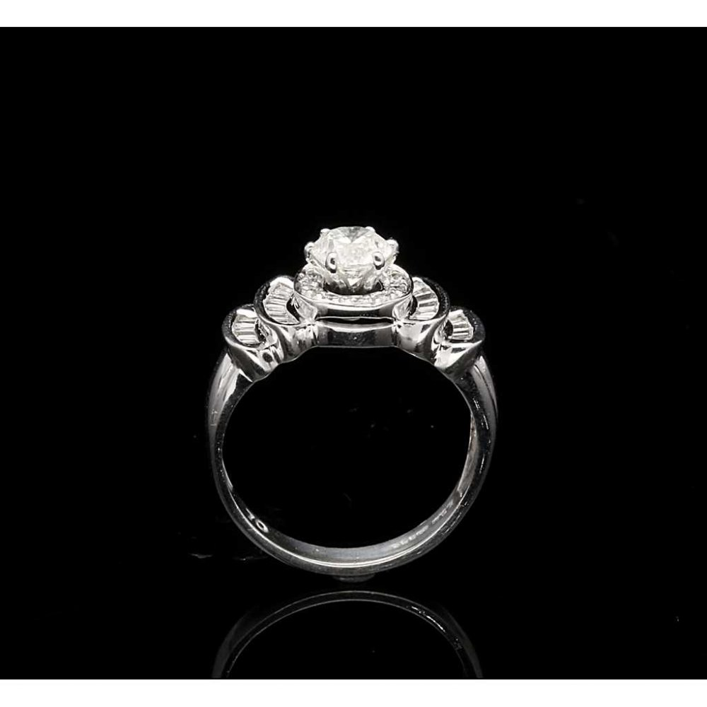 P1 P2 Diamond: 18ct White Gold Bow Tie Diamond Engagement `Ring