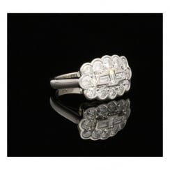 18ct White Gold Diamond Cluster Ring - 2.00ct