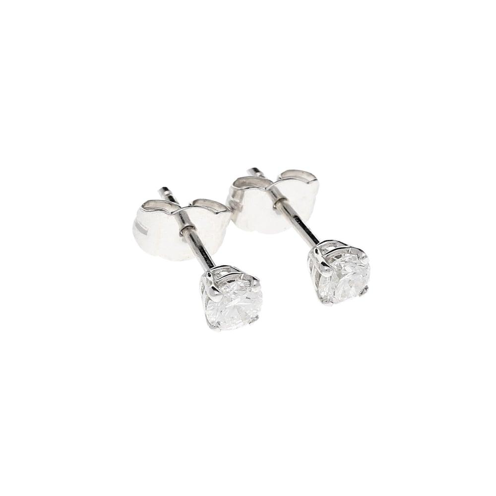 18ct White Gold Diamond Stud Earrings 0 50ct Miltons Diamonds
