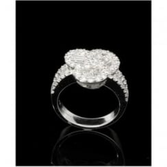 18ct White Gold Fancy Cluster Ring