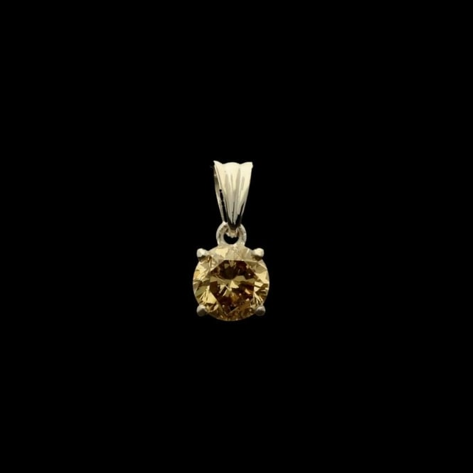 Miltons Diamonds 18ct White Gold Fancy Light Brown Diamond Pendant