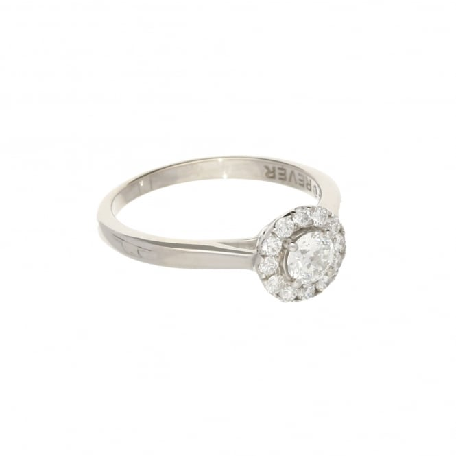 Miltons Diamonds 18ct White Gold 'Forever' Diamond Halo Engagement Ring