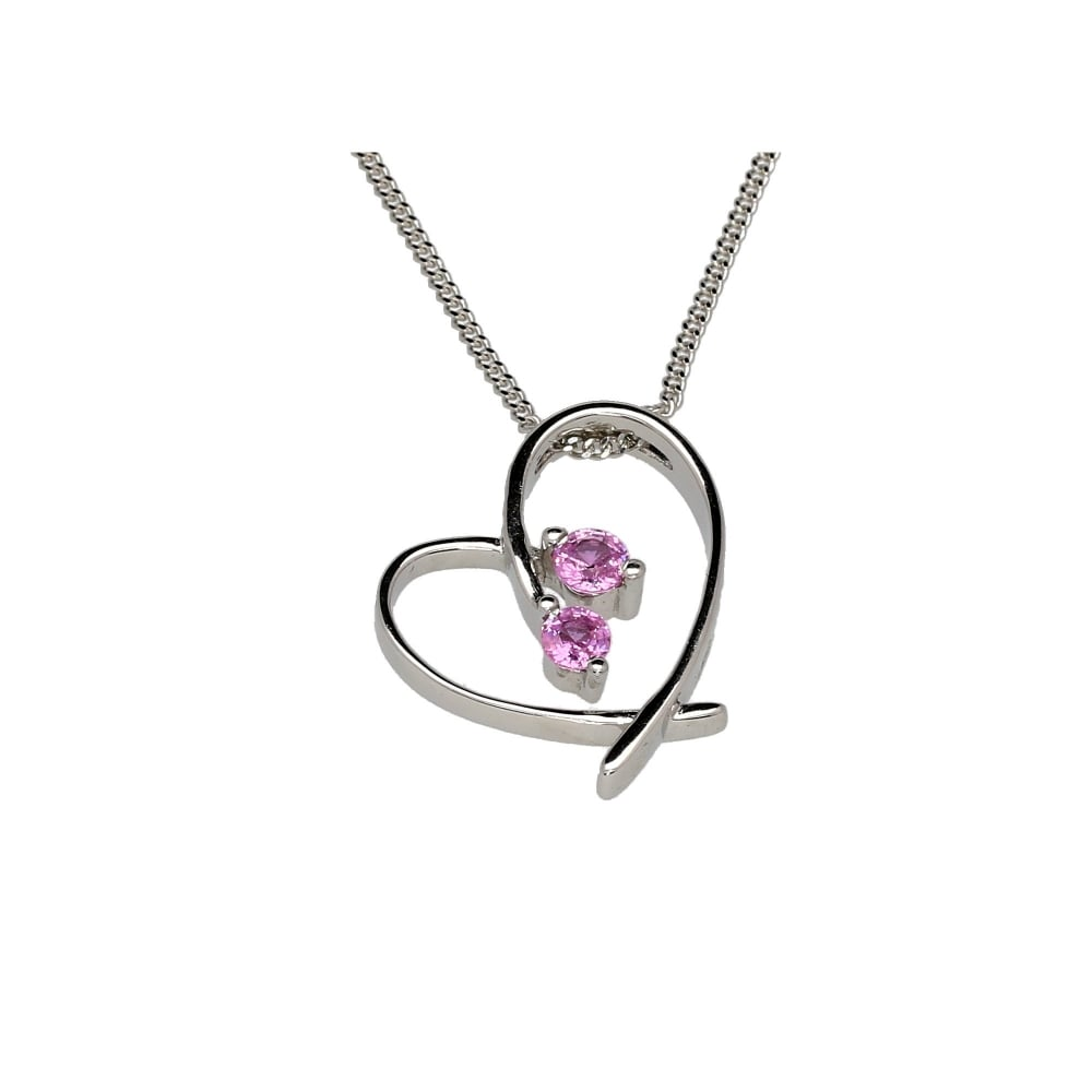 18ct white gold heart shaped pendant chain miltons diamonds 18ct white gold heart shaped pendant amp aloadofball Images