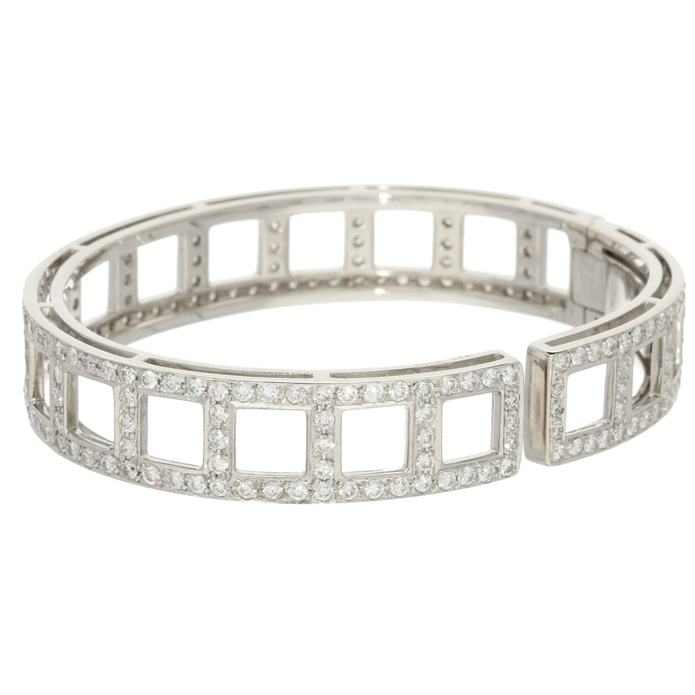 i diamond bracelets gold with say in diamonds bracelet triple you loop three bangles white bangle love tapered new round this lovely