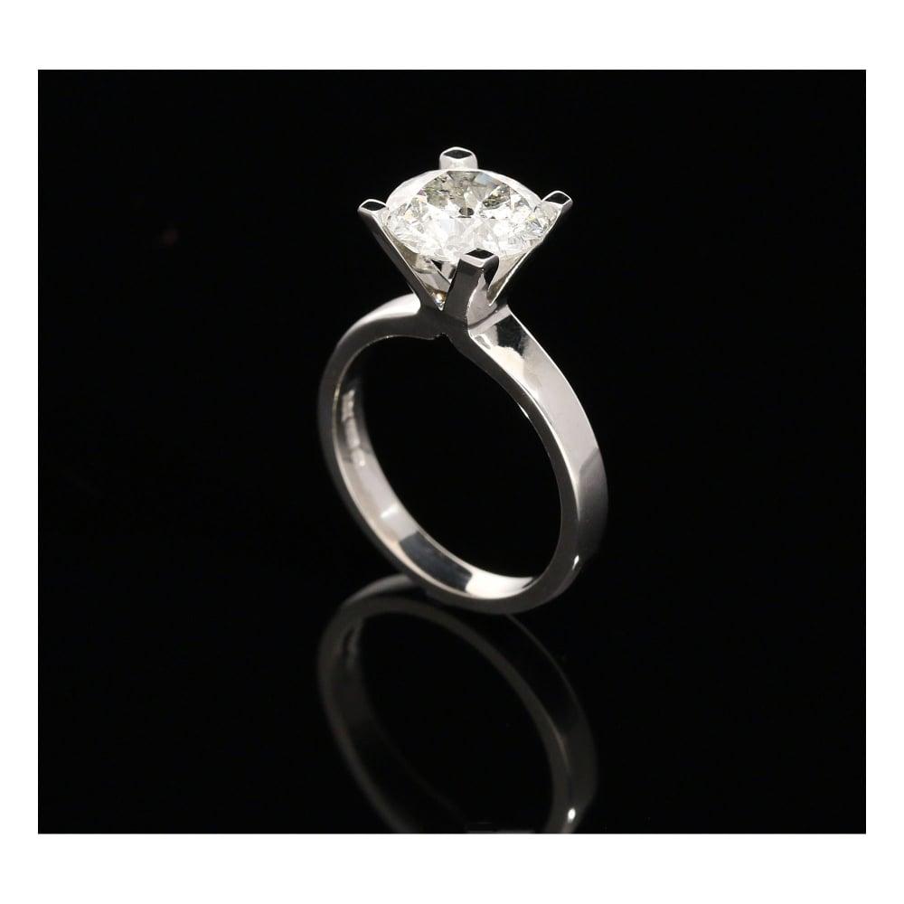 Milton s Secondhand 18ct White Gold Diamond Engagement Ring 2 98ct