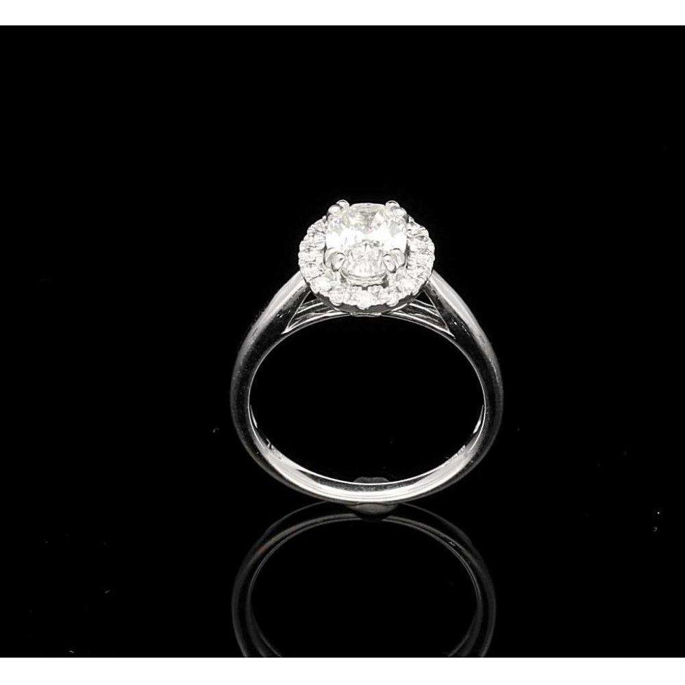 P1 P2 Diamond: 18ct Oval Cut Diamond Cluster Ring