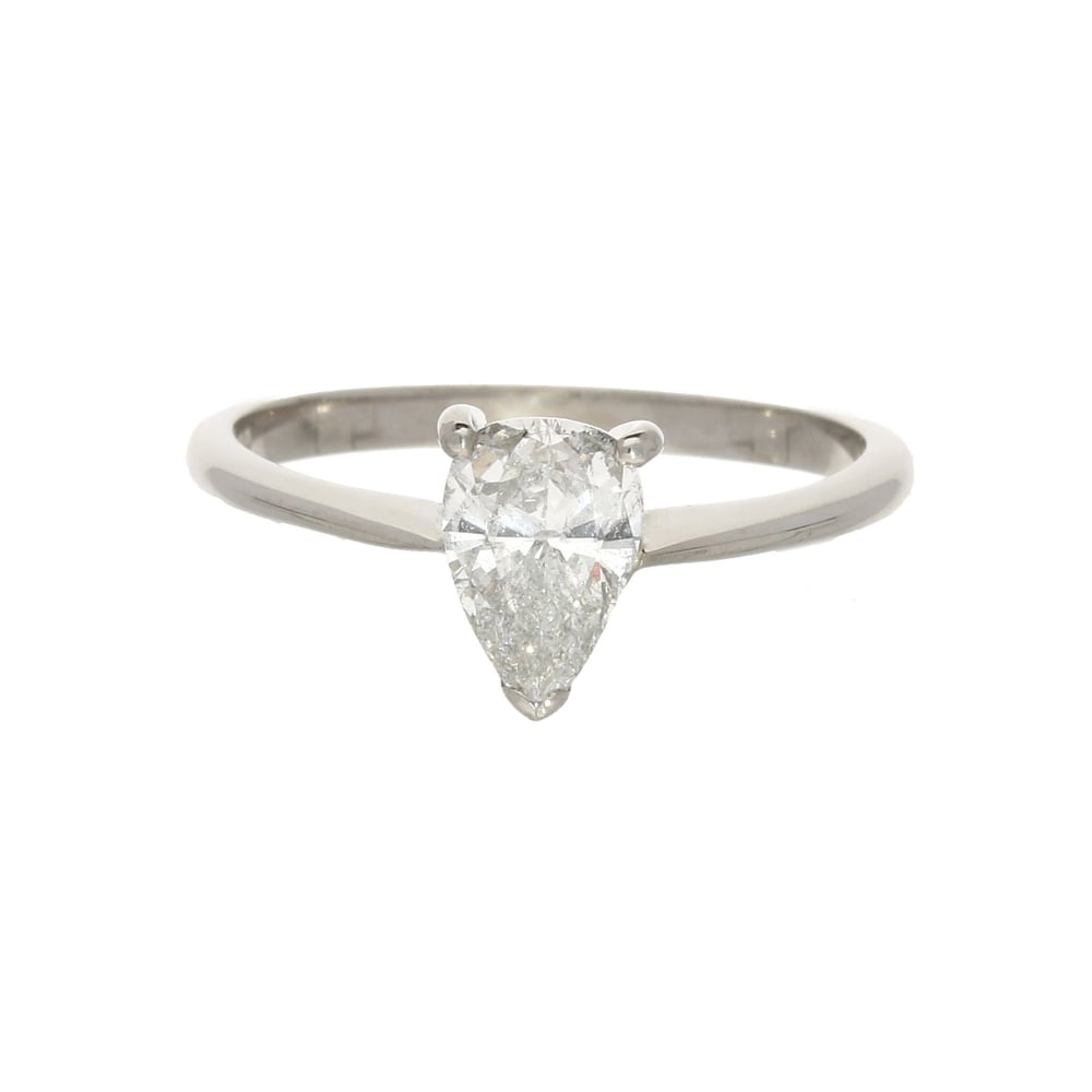 artemer ring solitaire diamond minimalist products hand pear colorless on rings engagement