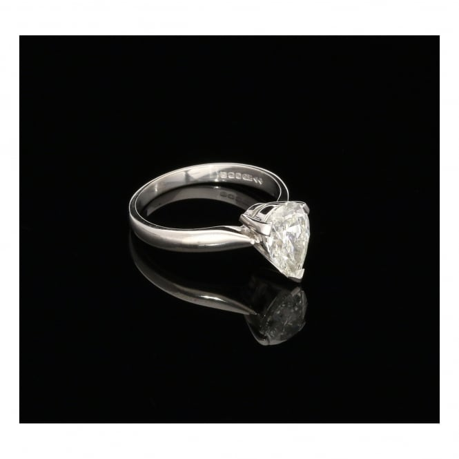 Miltons Diamonds 18ct White Gold Pear Shaped Diamond Engagement Ring - 1.50ct