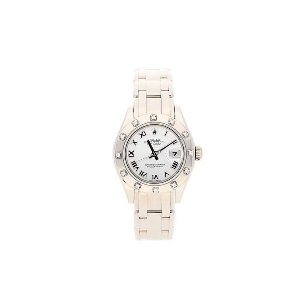 18ct white gold rolex pearlmaster 80319