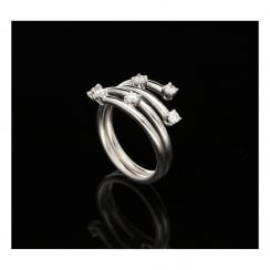 18ct White Gold Scatter Diamond Ring - 0.30ct