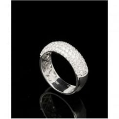 18ct White Pave Style Half Eternity Ring