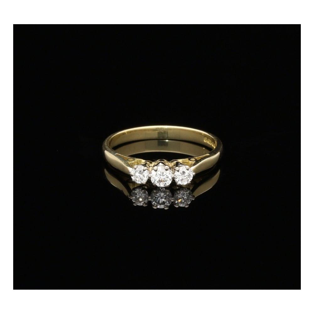 Ct Yellow Gold Diamond Ring Uk