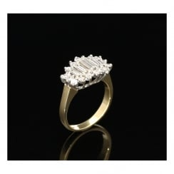 18ct Yellow Gold Diamond Cluster Ring - 1.00ct