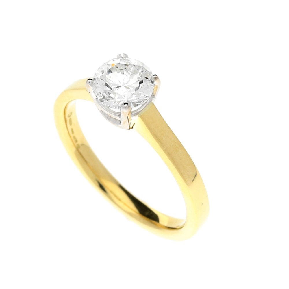 Secondhand 18ct Yellow Gold Diamond Engagement Ring